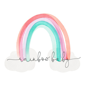 """54"""" rainbow baby blanket"""