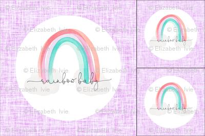 1 blanket + 2 loveys: lilac rainbow baby