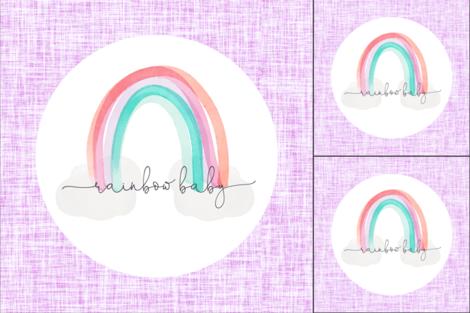 1 blanket + 2 loveys: lilac rainbow baby fabric by ivieclothco on Spoonflower - custom fabric