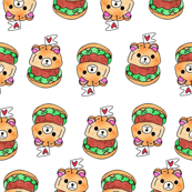 Cute Burger white