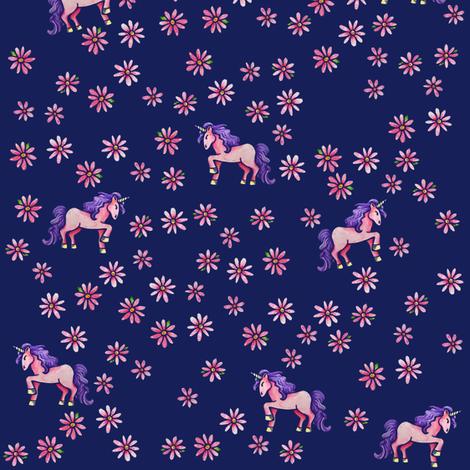 Unicorn Flowers fabric by bubbsnugg on Spoonflower - custom fabric