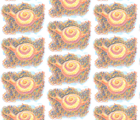 Snails on Pebbles fabric by art_rat on Spoonflower - custom fabric