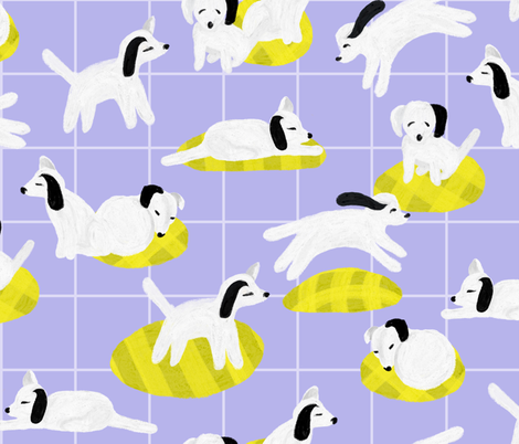 Dog Days Large (Purple) fabric by michelleaitchison on Spoonflower - custom fabric
