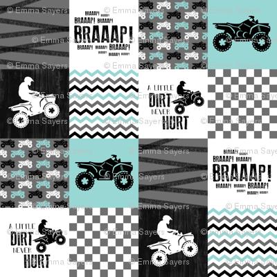 4 Wheel/ATV/A little Dirt Never Hurt - Wholecloth Cheater Quilt
