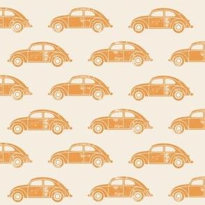 vintage cars - retro orange