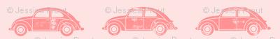 vintage cars - pink