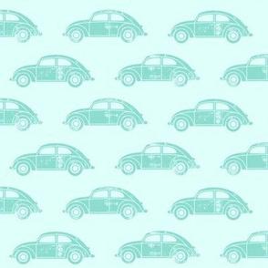 vintage cars - aqua
