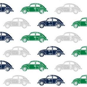 vintage cars - multi (navy, green,grey)