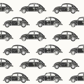 vintage cars - grey on bone