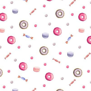 Pink sweets and treats