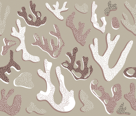 Hawaii Coral Clay fabric by booboo_collective on Spoonflower - custom fabric