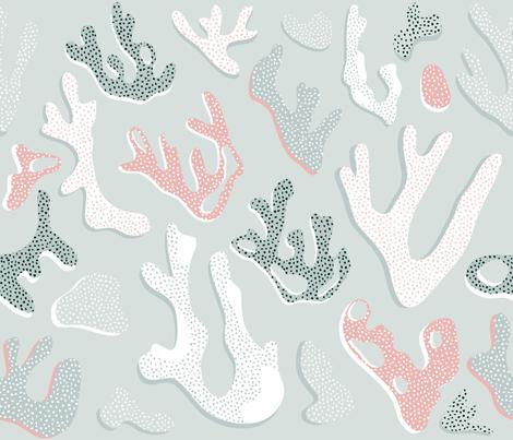 Hawaii Coral Mermaid Green fabric by booboo_collective on Spoonflower - custom fabric