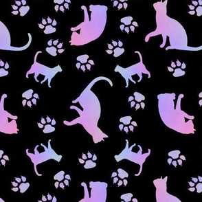 Cats Purple blk