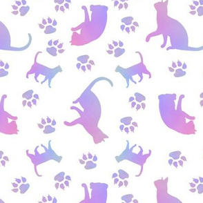 Cats Purple white