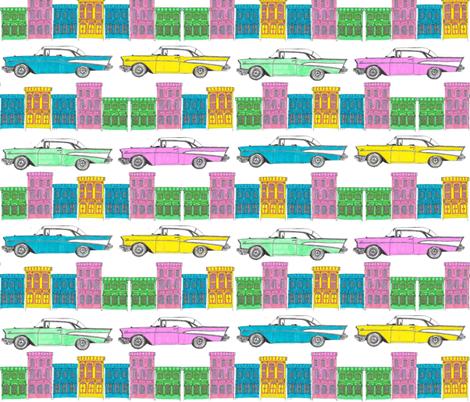 CUBAN STREETS fabric by heckadoodledo on Spoonflower - custom fabric