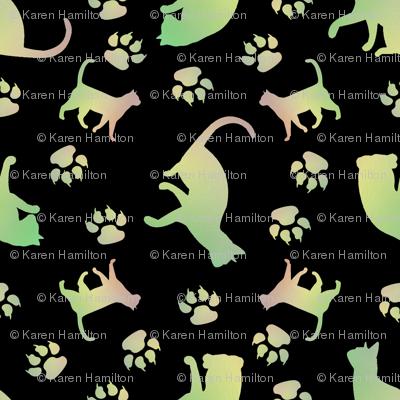 Cats green blk