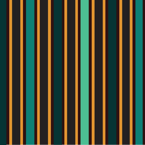 stripes for chairs turquoise-black