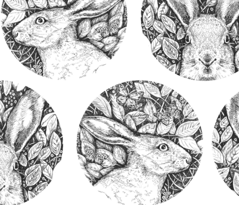 Hare Repeat fabric by louansell on Spoonflower - custom fabric