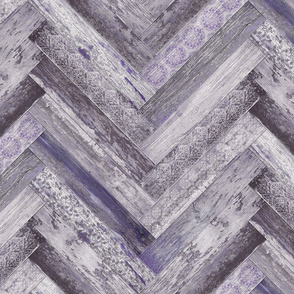 Vintage Wood Chevron Tiles Herringbone Purple