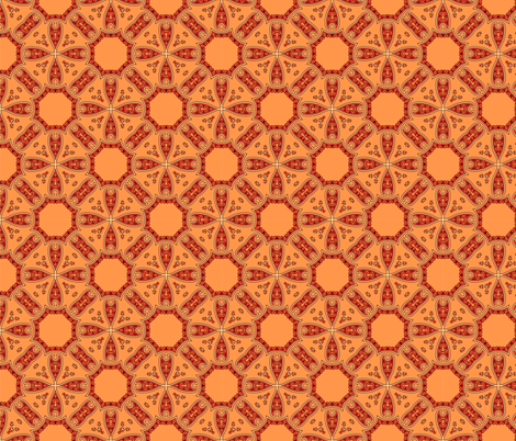 ethnic geometric pattern fabric by tanya_krivich on Spoonflower - custom fabric