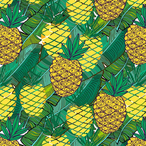 Fruits pattern with pineapples.
