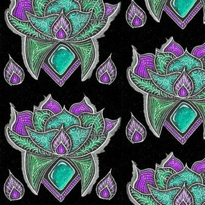 Lotus glow-Aqua