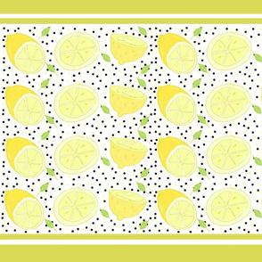 lemon poppy twist 21-  yellow stripes