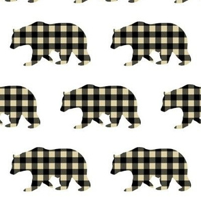 BEAR BLACK AND KHAKI PLAID