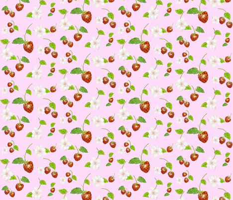 Strawberry Joy by Anna fabric by annahedeklint on Spoonflower - custom fabric