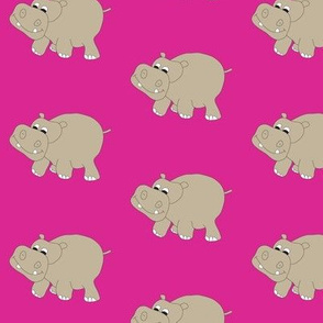 Pink Hippo 3""