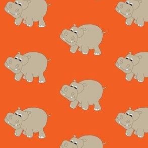 "Orange Hippo 3"""