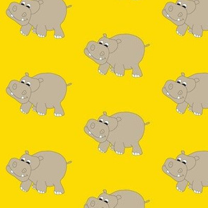 Yellow Hippo 3""