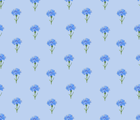 Cornflowers Small fabric by vinpauld on Spoonflower - custom fabric