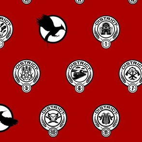Hunger Games District Seals