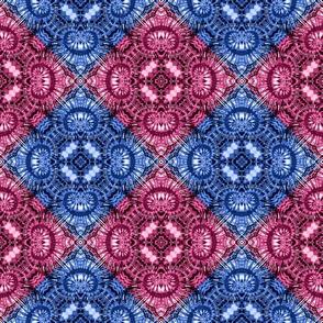 Red & Blue Spiral Diamonds