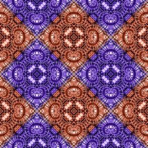 Purple & Orange Spiral Diamonds