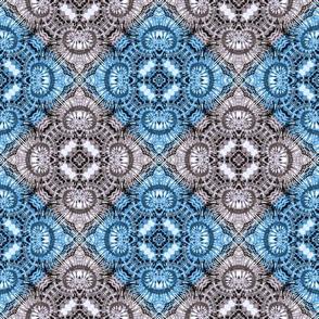 Blue & Silver Spiral Diamonds