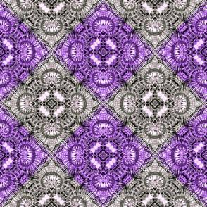 Purple & Silver Spiral Diamonds