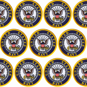 USA Navy Patches on White