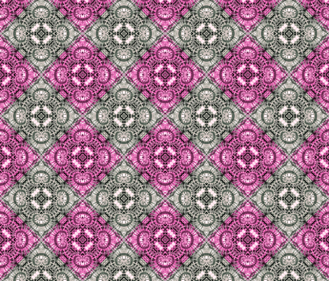 Pink & Silver Spiral Diamonds fabric by just_meewowy_design on Spoonflower - custom fabric