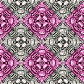 Pink & Silver Spiral Diamonds