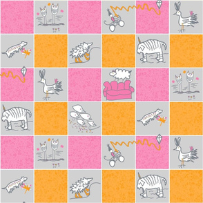 "Whimsical Creatures 3"" grid"