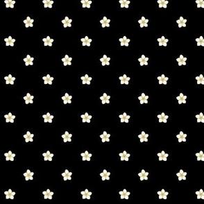 Polka Plumeria Dots_Bg Black