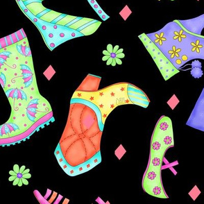 Shoe Multicolors on Black Large