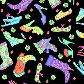Shoe Multicolors on Black Small