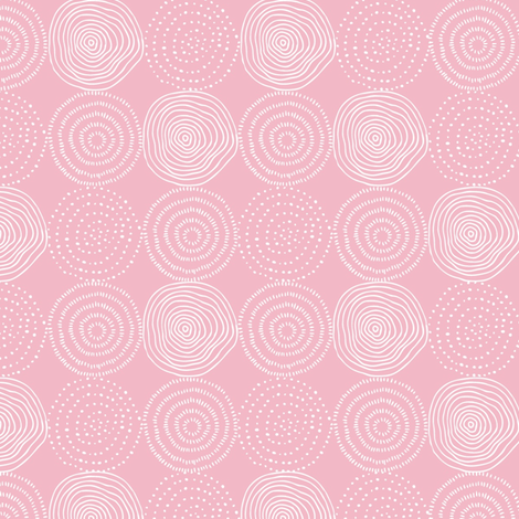 Pink Tree Rings - Woodland Critters Coordinate fabric by gingerlous on Spoonflower - custom fabric