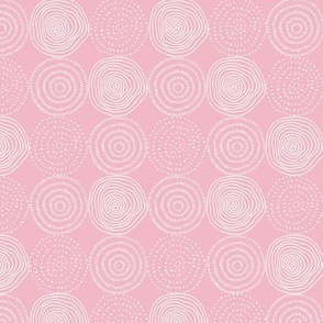 Pink Tree Rings - Woodland Critters Coordinate