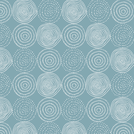 Blue Tree Rings - Woodland Critters Coordinate fabric by gingerlous on Spoonflower - custom fabric