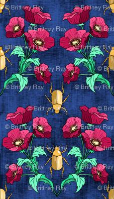 Gold Beetle + Poppy Blue