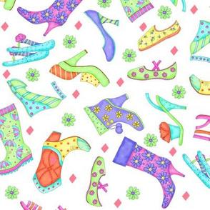 Shoe Multicolors on White Small